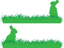 Simple bunny banner Royalty Free Stock Photos