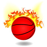 Simple burning basketball Stock Photo