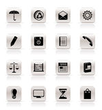 Simple Business And Office Internet Icons Royalty Free Stock Photography