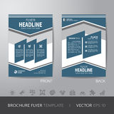 Simple business brochure flyer design layout template in A4 size Stock Image