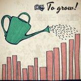 Simple business doodles concept Stock Photos