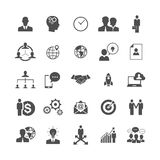 Simple Business Icons set, Management, Human Resources Royalty Free Stock Photography