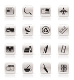 Simple Business and industry icons Stock Photos