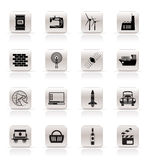 Simple Business and industry icons Stock Photography
