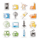 Simple Business and industry icons Stock Photo