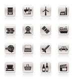 Simple Business and industry icons. Vector Icon Set Royalty Free Stock Photography