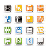 Simple Business and Internet Icons Stock Photography