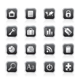 Simple Business and Internet Icons Stock Images