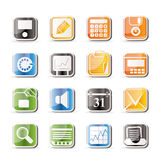 Simple Business, Office and Finance Icons Stock Photography