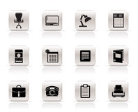 Simple Business, office and firm icons. Icon set Royalty Free Stock Photos