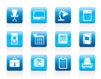Simple Business, office and firm icons stock illustration