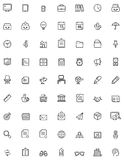 Simple business and office  icon set Stock Image