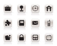 Simple Business and office icons Royalty Free Stock Photography