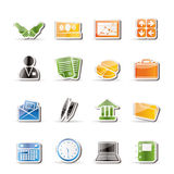 Simple Business and office icons Stock Photo