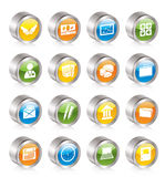 Simple Business and office icons Stock Image