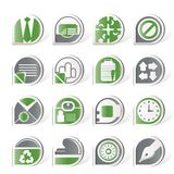 Simple Business and Office Icons Royalty Free Stock Images