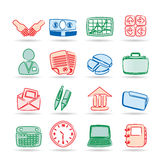 Simple Business and office icons Stock Photos