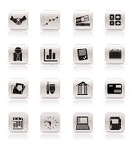 Simple Business and Office icons Royalty Free Stock Image