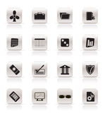 Simple Business and Office Icons Stock Photography