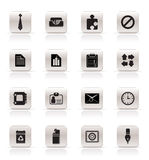 Simple Business and Office Icons. Vector Icon Set Royalty Free Stock Images
