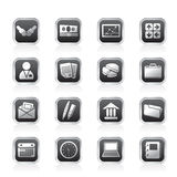 Simple Business and office icons. Vector Icon Set Stock Photos