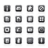 Simple Business and Office Icons. Vector Icon Set Royalty Free Stock Photo