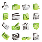 Simple Business and Office Icons. Vector Icon Set 2 Royalty Free Stock Photos