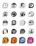 Simple Business and Office  Internet Icons Royalty Free Stock Photos