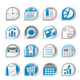 Simple Business and Office Internet Icons Royalty Free Stock Photo