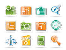 Simple Business and Office internet Icons Stock Image