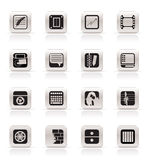 Simple Business, Office and Mobile phone icons Stock Images