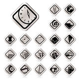 Simple Business and Office tools icons Royalty Free Stock Images