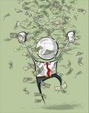Simple Business People - Money Rain Royalty Free Stock Photo