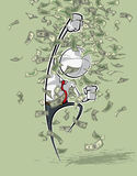 Simple Business People - Victorious Money Rain Stock Image