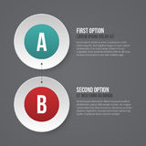 Simple business template with two options. EPS10. Royalty Free Stock Photography
