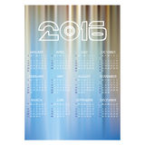 2016 simple business wall calendar abstract blue blue eps10 Stock Images