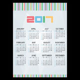 2017 simple business wall calendar abstract paper backgrond and bar code eps10. 2017 simple business wall calendar abstract paper backgrond and bar code Royalty Free Stock Photography