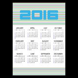 2016 simple business wall calendar with color stripes eps10. 2016 simple business wall calendar with color stripes Royalty Free Stock Image