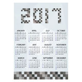 2017 simple business wall calendar grayscale bricks eps10 Royalty Free Stock Image