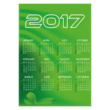 2017 simple business wall calendar green color abstract background eps10. 2017 simple business wall calendar green color abstract background Vector Illustration