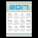 2017 simple business wall calendar with horizontal lines eps10. 2017 simple business wall calendar with horizontal lines stock illustration