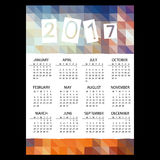 2017 simple business wall calendar with low polygon color theme pattern eps10. 2017 simple business wall calendar with low polygon color theme pattern stock illustration