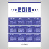 2016 simple business wall calendar with white Stock Photo