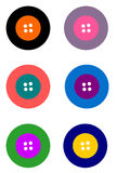 Simple Buttons. Various colors Stock Photo