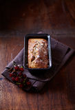 Simple cake with dried fruits for Christmas Royalty Free Stock Photography