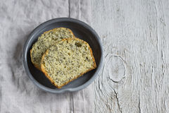 Simple cake with poppy seeds stock photos