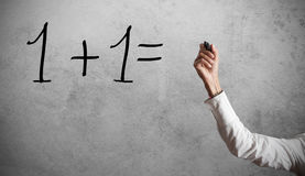 Simple calculation Stock Photography