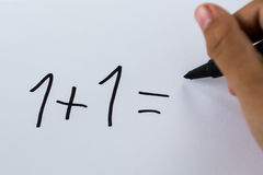 Simple calculation Royalty Free Stock Photos