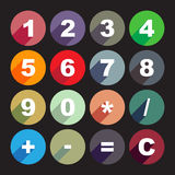 Simple calculator buttons Stock Image