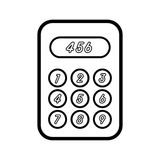 Simple calculator icon. Icon calculator as the most dominant counting tool in modern times Stock Photos